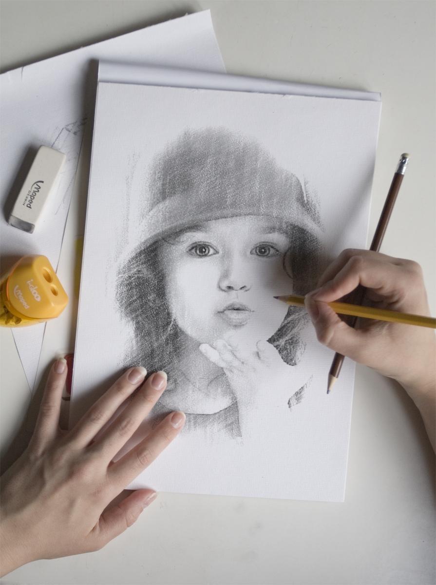 فون و قاب عکس نقاشی حرفه ای چهره