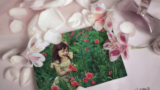قاب عکس عاشقانه گل