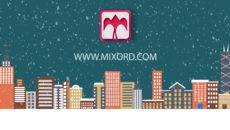 موشن گرافیک و آرم استیشن زمستانی بارش برفی 3