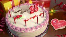 تیزر کیک تولد جهت تبریک جشن تولد و نامزدی و عروسی
